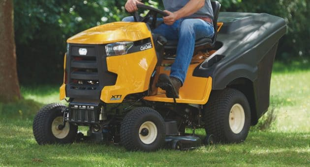 Cub Cadet QR 106 ride on mower being driven
