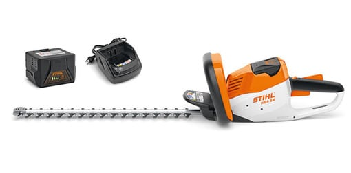 Stihl HSA 56 hedge trimmer from side