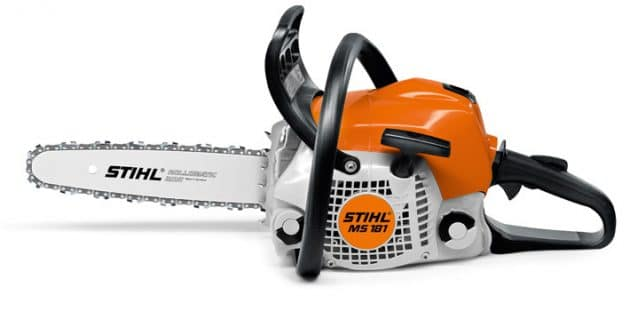Stihl MS 181 chainsaw left side