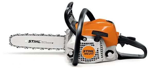 Stihl MS 211 chainsaw left side